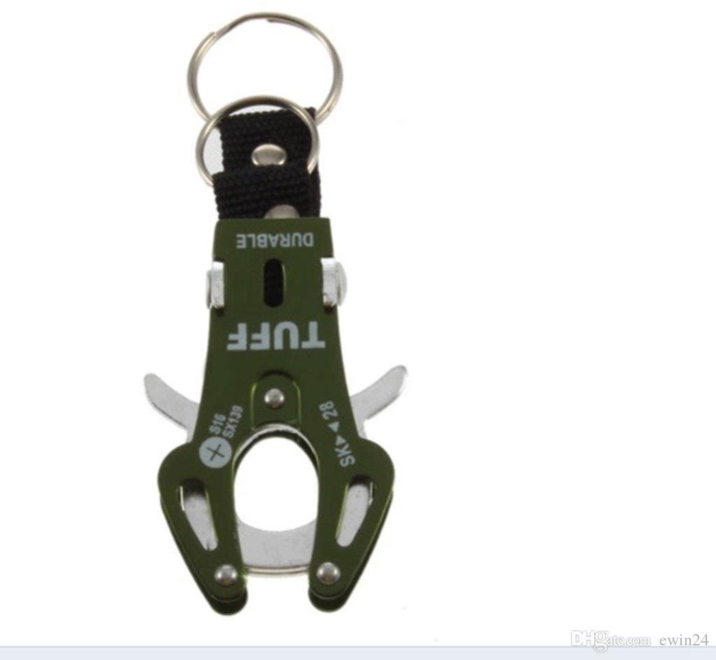 Tiger Head Carabiner Hiking Camp Spring Clip Lock Cook Buckle Keychain Alumring Aluminium Alume Regring Пряжка