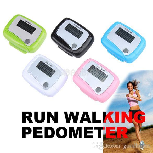 Moda Cep LCD Pedometre Mini Tek Fonksiyonlu Pedometre Dijital Yürüyüş Koşu Sayacı Pedometre Perakende Paketi Ile