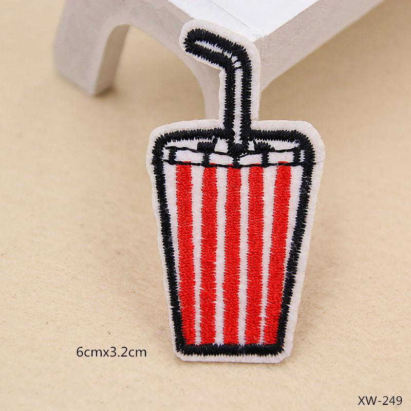 Cartoon COOL Rainbow Patch Embroidery Appliques Stickers Iron On Patches For Clothes DIY Jean Trousers Jacket Clothing Sewing Accessories