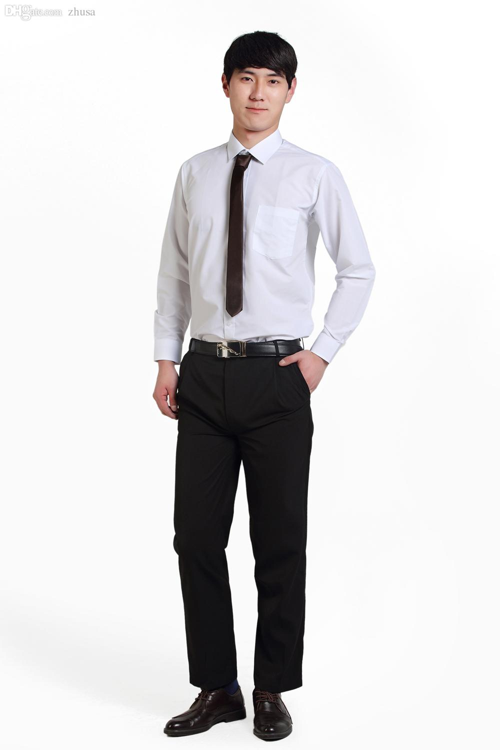 2018 wholesale 2016 oem office suit business suit design for men white shirt and black pant from zhusa 4265 dhgatecom