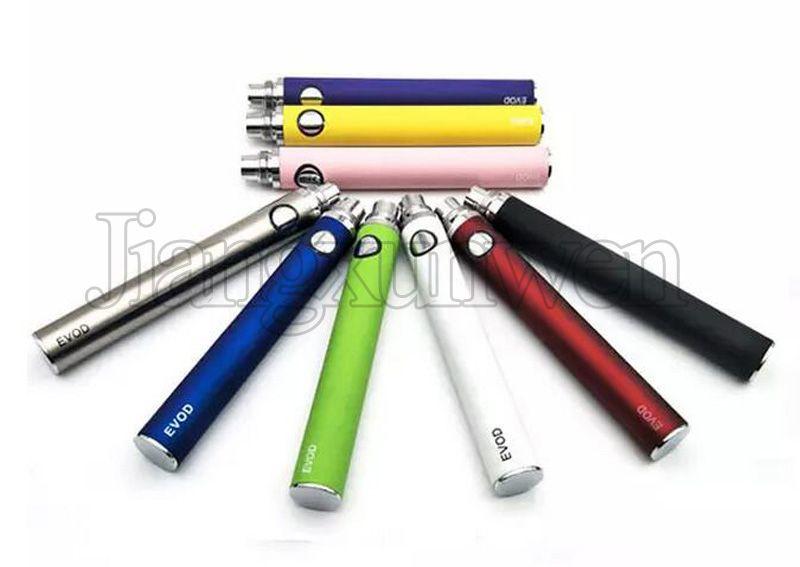 EVOD Bateria 650 900 1100 mah e Cigarro Bateria Vaporizador eGo 510 Fio Para EVOD MT3 CE4 Tanque Atomizador Vape Caneta Ecig baterias