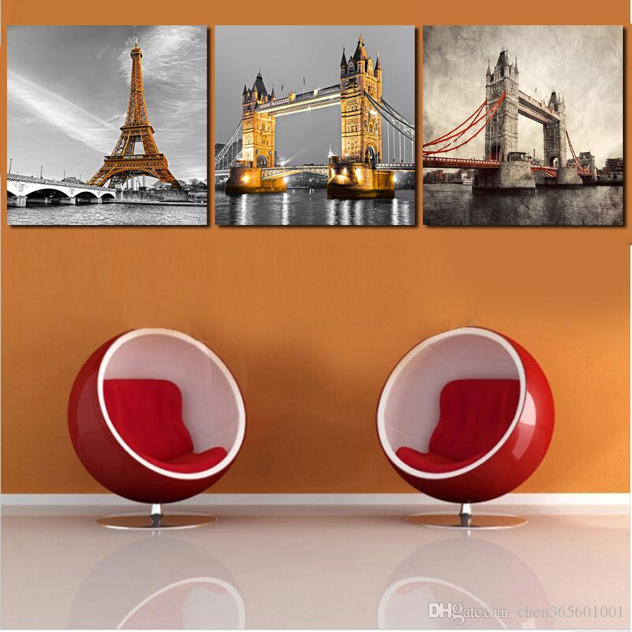 Hot Sell 3 Panels Modern Wall Painting black and white picture Home Decorative Art Picture Paint on Canvas Prints