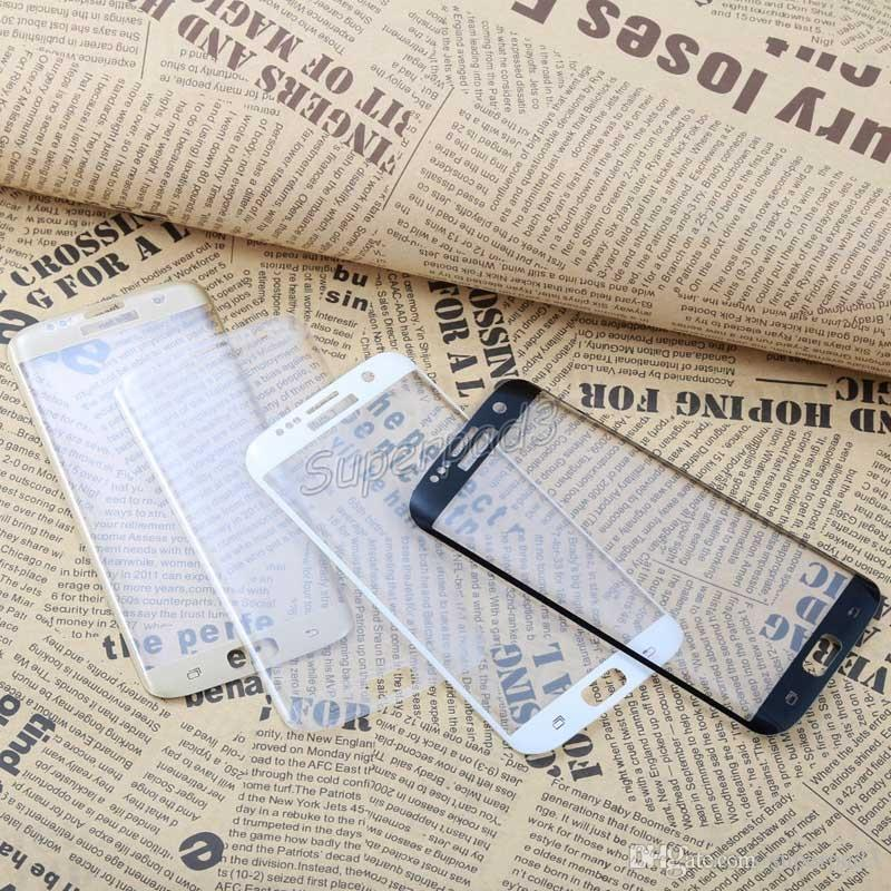 For Note 7 S7 Edge S7 S6 Edge S6 Edge Plus Anti-scratch Curved Tempered Glass Full Screen Mobile Phone Protector Film Fast DHL