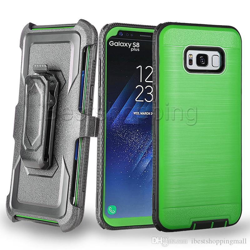 3 in 1 Defender Armor Case With Front Screen and Belt Clip Cover For iPhone X Xr Xs Max 8 7 6S Plus Samsung J3 J7 2017 2018 LG Stylo 4 3