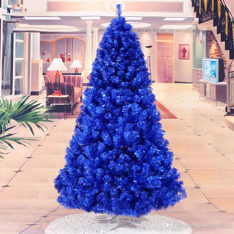 Christmas New Year Gift 1 8m 180cm Navy Blue Christmas Tree Ornaments Christmas Gift Ornaments Supplies