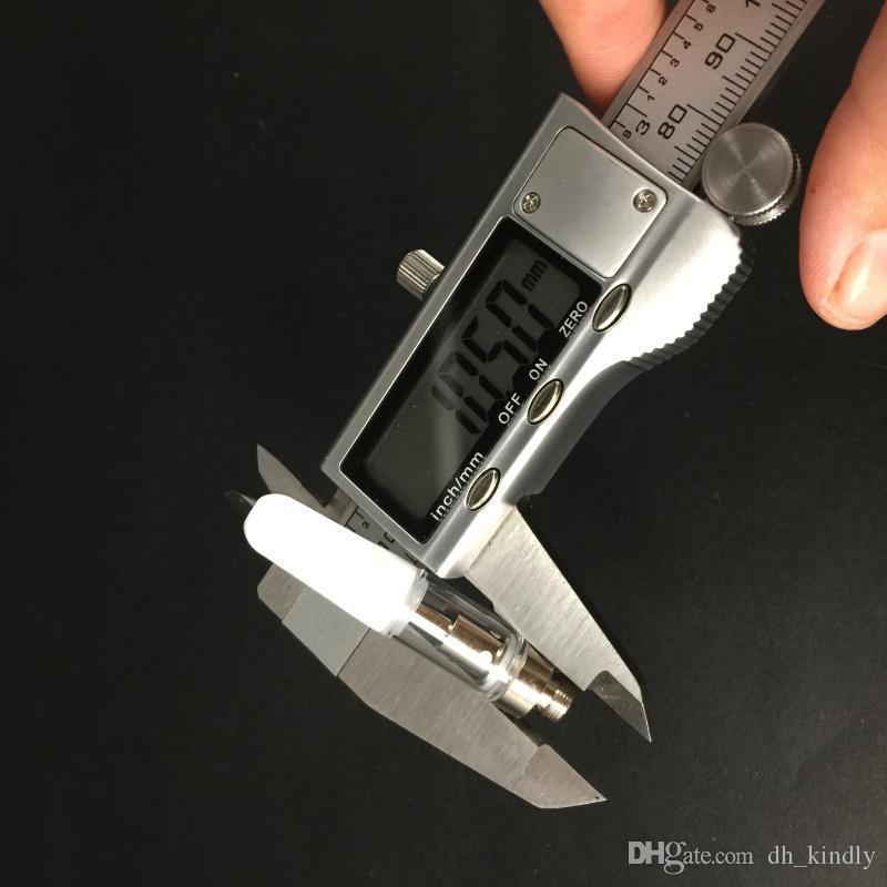 Instock Vape Cartridges Co2 Cartridge Glass tank ceramic core bho cartridge with ceramic black white tip wax oil pen atomizer