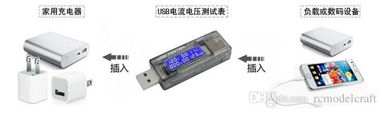 LCD digital Portátil Mini USB Tensão Corrente testador de medidor de 5 V ~ 20 V QC 2.0 3.0 volts Carregador de Capacidade de Detector de Potência de Texto