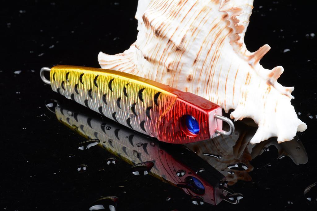 Красочная металлическая приманка 8 см 42G для морских рыболовных приманков Тонущая искусственный джиггинг тяжелая приманка большая игра рыболовные аксессуары PESCA