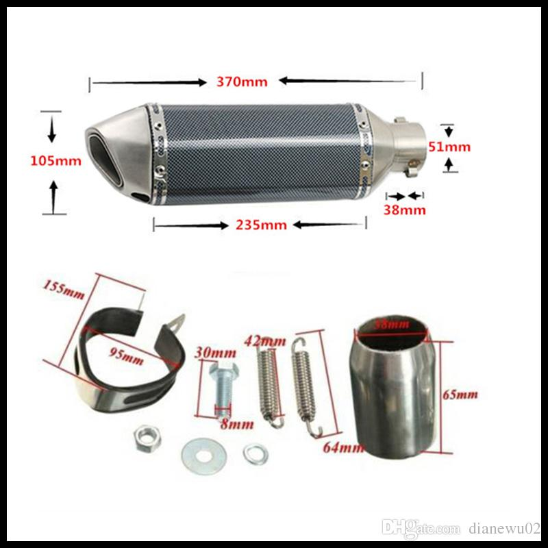 Motorcycle Exhaust Muffler Pipe with Removable DB Killer Slip on 38-51mm