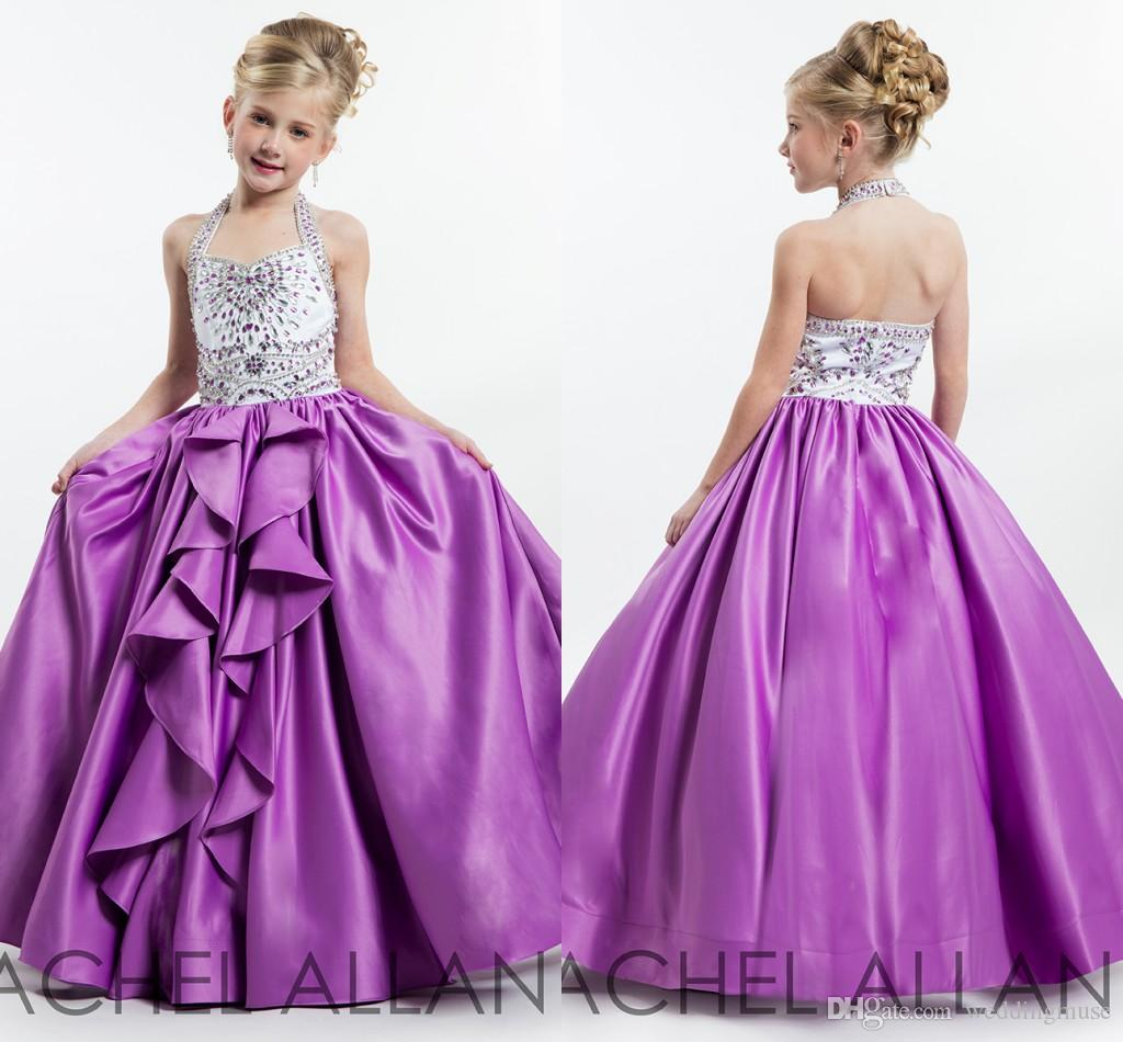 Compre Precioso 2017 Rachel Allan Girls Desfile De Vestidos De ...