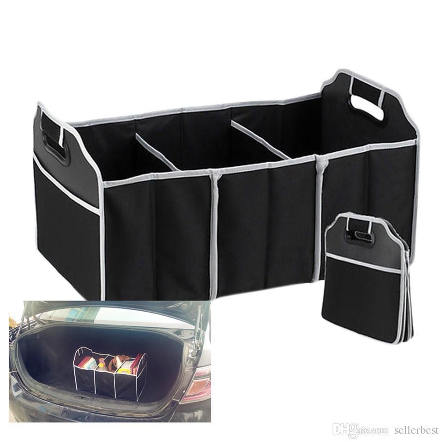 Organizador plegable para el automóvil Material de arranque Bolsas de almacenamiento de alimentos Bolsa Caja Caja Organizador del maletero Almacenamiento del automóvil Limpieza de los accesorios del interior Plegable