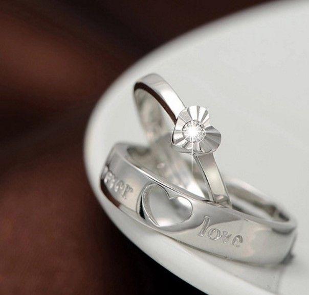 collana all'ingrosso Anello solitario coppia S925 fidanzamento anniversario CA signora nuovo matrimonio IT donne Dimond Paris EUR degli Stati Uniti