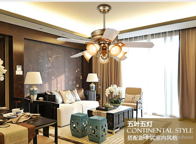 Retro Fan ceiling light with controller Minimalism modern bedroom dining room living room ceiling lights fan LED Inventer 42inch