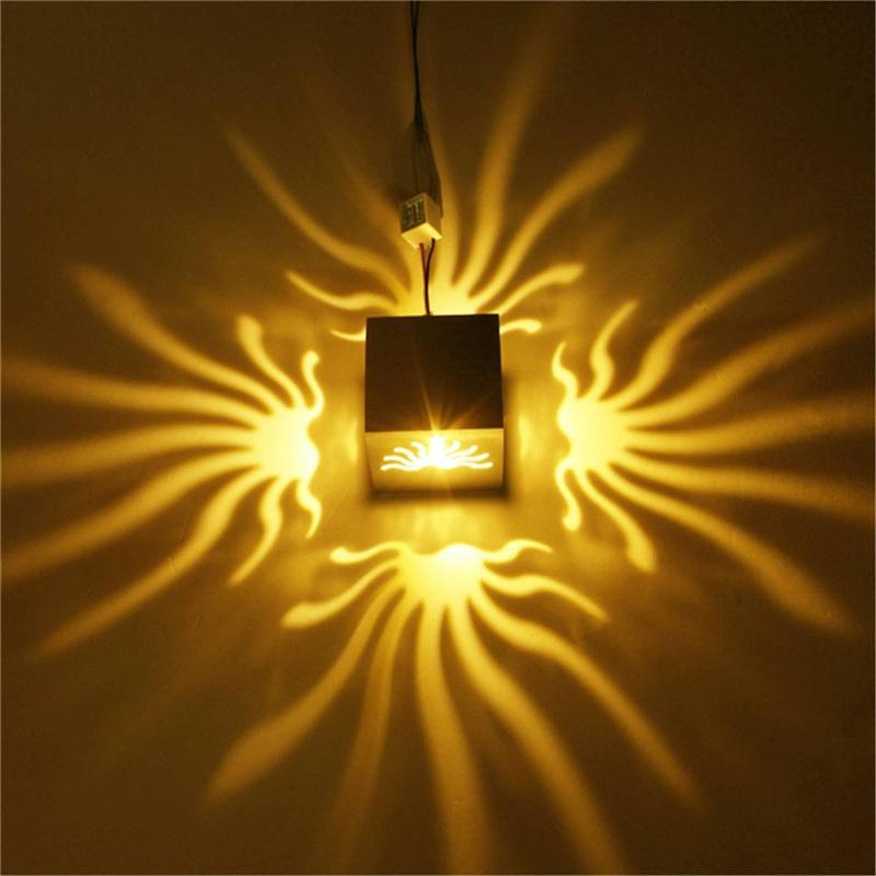 Hollow Novelty Decorative Wall Lamps 3W Multicolor Best High Power Led Wall Lights Sconces for KTV Restaurant HD