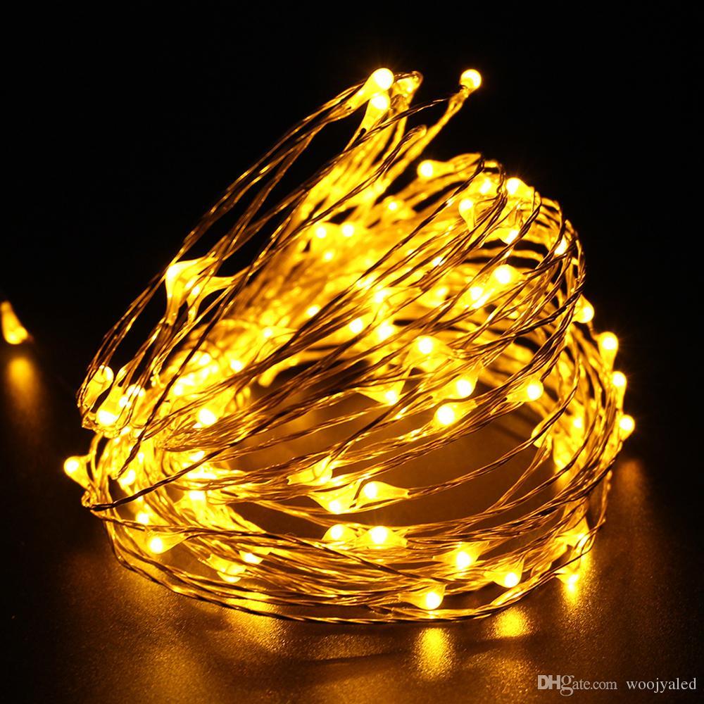 구리 Led 문자열 조명 10m 100 실내 야외 실내 방수 요정 빛 DC12V 축제 크리스마스 파티 장식 조명