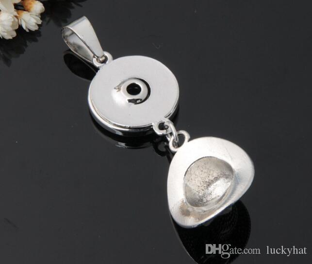 Новая горячая распродажа шляпа кнопка оснастки кулон подходит 18 мм шарм DIY ручной работы личность нуса кулон ювелирные изделия нуса куски аксессуары