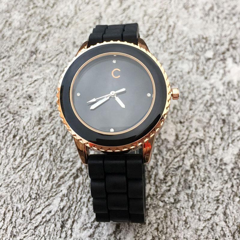 Moda mulheres Meninas macio Silicone pulseira de quartzo relógio de pulso relógios