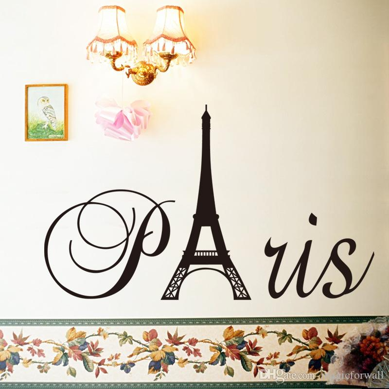 Pairs Wall Art Mural Decor Poster Eiffel Tower Wall Decal Sticker Home Decor Wall Applique Pairs Wall Quote Paper Graphic