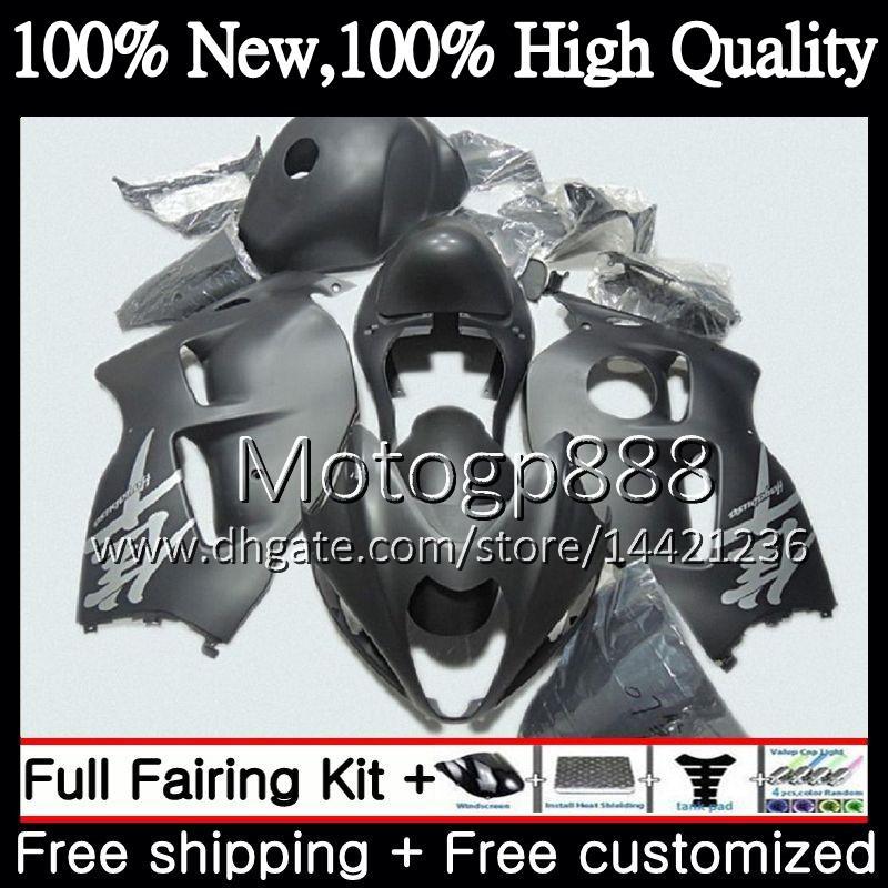 Flach schwarz Karosserie für SUZUKI Hayabusa GSXR1300 96 07 GSX R1300 56PG81 GSXR-1300 GSXR 1300 1996 1997 1998 1999 2000 Verkleidung Karosserie