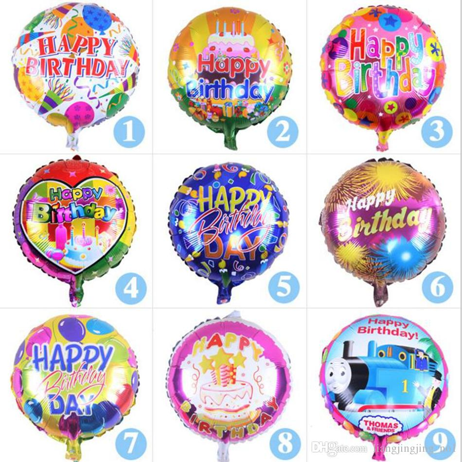 18 Inch Happy Birthday Heart Air Balls Aluminum Foil Balloons Party Decorations Kids Helium Ballon Supplies OOA2436 Cheap Favor