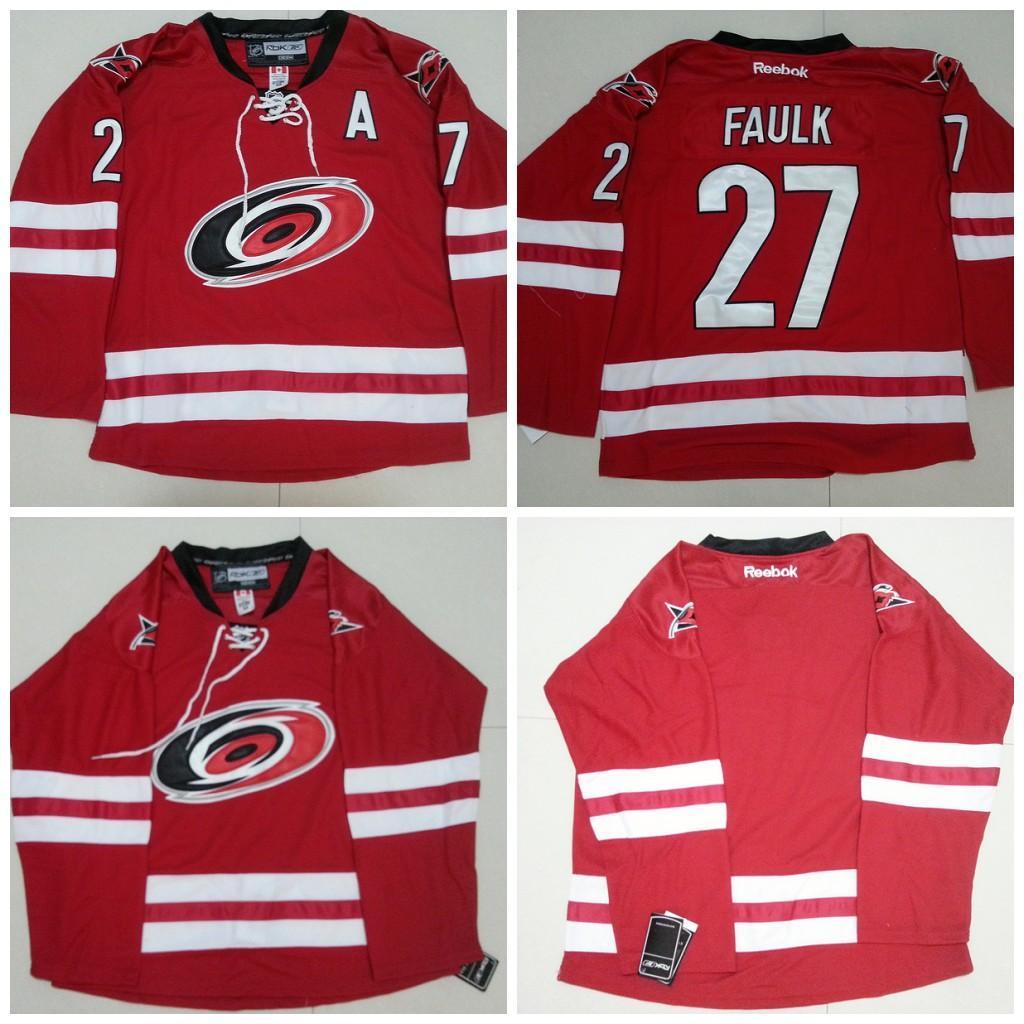 211325e10 ... 2017 2016 Carolina Hurricanes MenS 27 Justin Faulk Jerseys Ice Hockey  Jersey Embroidery,Cheap Blank ...