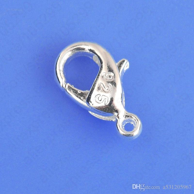 Wholesale Bulk Jewelry Findings Genuine 925 Sterling Silver Lobster Clasp 925 Stamped Fittings Connector Components
