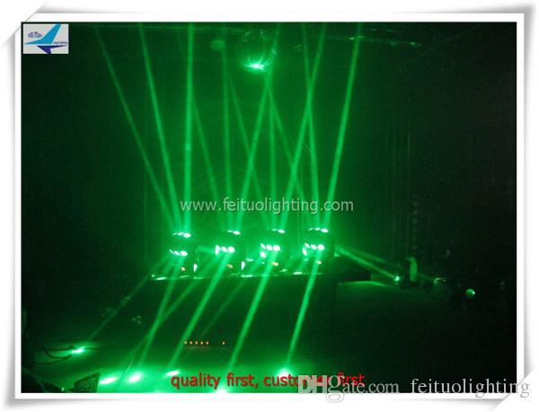 9 adet led örümcek ışın hareketli kafa 12 w rgbw 4in1 3 * 3 dönebilen disko gece dans partisi düğün için led ışık konser