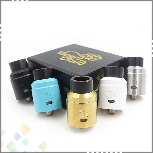 Vaperz Cloud X1 RDA Clone 304 Stainless Steel Material Unique Design X1 Vaperz Cloud Atomizer fit 510 E Cigarette DHL Free