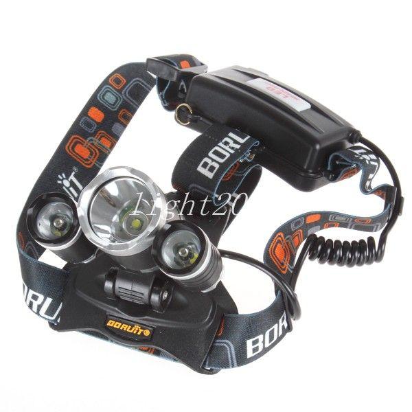 Bom preço 5000 Lumen T6 + 2R5 Boruit Head Light Farol Cabeça Ao Ar Livre Lâmpada de Luz HeadLight Recarregável por 2x18650 Bateria de Pesca Camping