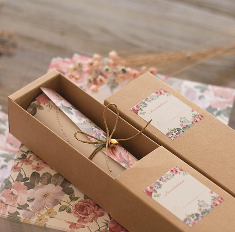 50 Free Personalized Customised Printing Kraft Paper Box Scroll