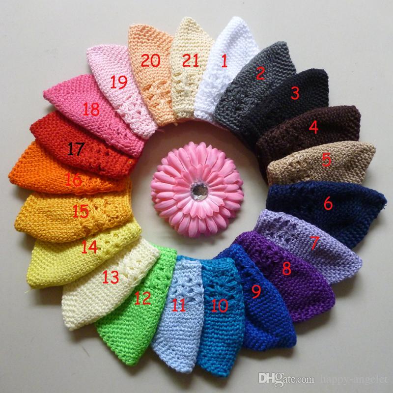 tamaño mayor : M, L niños del algodón de las tapas del kufi clásico de punto hecho a mano kufi del ganchillo gorro chica knited cráneo MZ9109