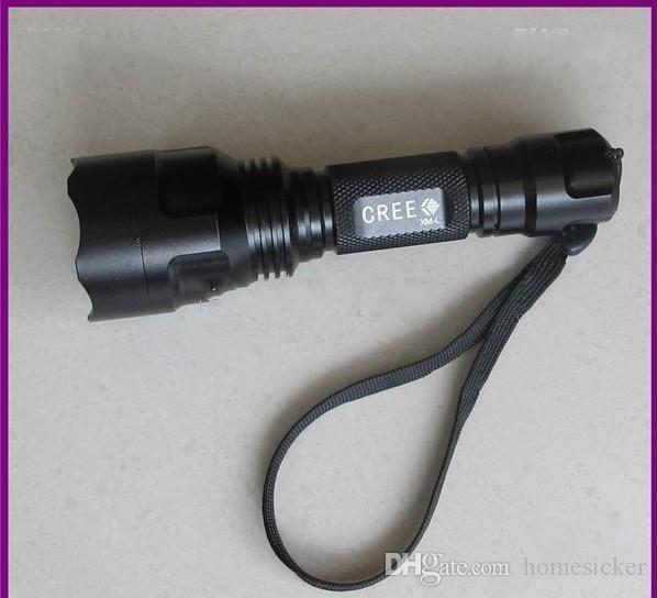 UltraFire C8 T6 1300Lm CREE XM-L LED Flashlight lamp bulb spotlight C8T6+ 2x18650 battery and charger