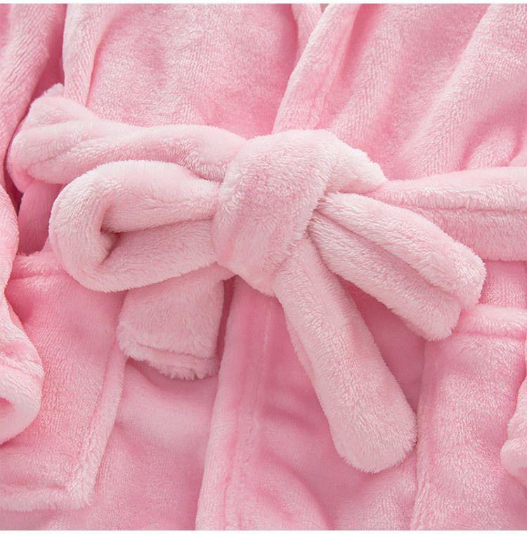 منامة الطفل الحيوان أفخم البشكير الطفل pc 1 فتى فتاة المخملية الناعمة رداء منامة المرجانية الأطفال اللباس ملابس الطفل