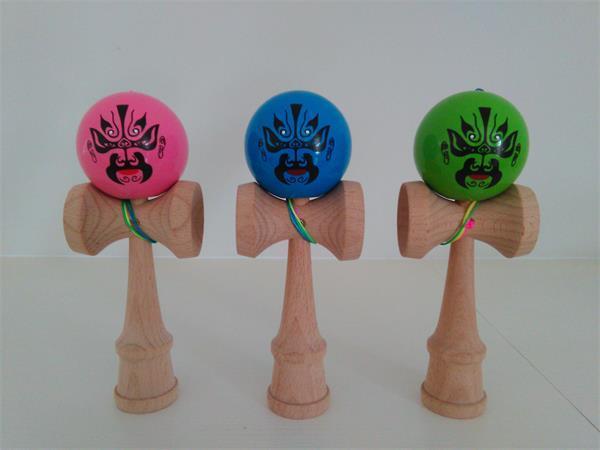 новый горячий PU краска советы мяч kendama игрушка профессиональный игра высокого качества Дракон лицо два сторона