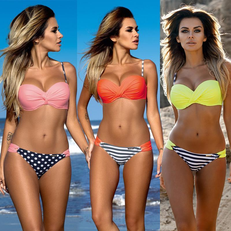 1a7ea3fa29580 2019 2018 Newest Sexy Women Bandage Bikini Set Push Up Padded Bra Swimsuit  Bathing Suit Swimwear Women S Swimwear Bikinis Tankini From Sunmiss