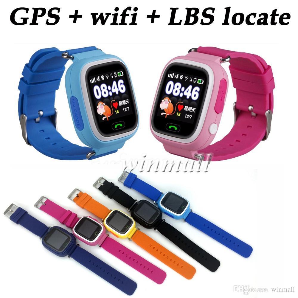 Q90 Smart watch Kids GPS Tracker Wifi 1 22 inch Touch Screen Support 2G SIM  Card Se Tracker App Best Gift For Children