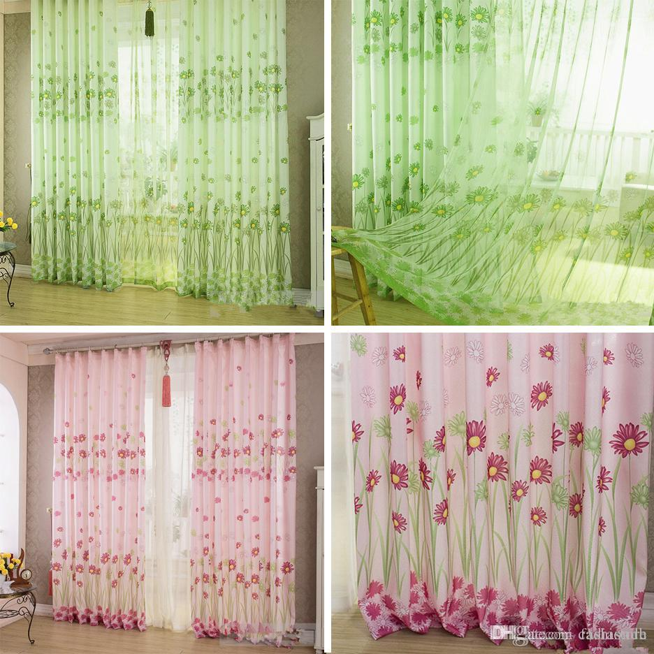 Home Sunflower Printed Curtains Short Curtain Window Drape Panel Sheer E00623 Fash Tapestry Wall From Fashiondh