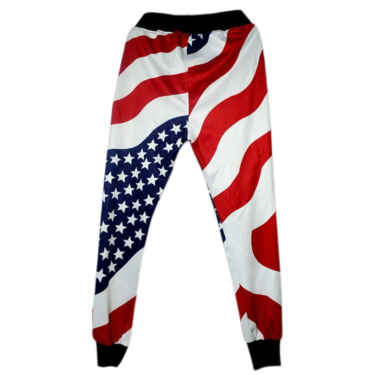 Erkek Giyim Pantolon Casual Sweatpants Baggy Harem pantolon Amerikan US Flag Baskı Pantolon Genç Boys Jogger Dans Sportwear Giyim