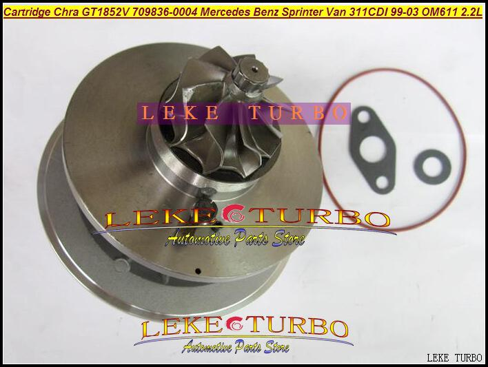 TURBO Cartridge CHRA OF GT1852V 709836-0004 726698-0001 Turbocharger For Mercedes Benz Sprinter VAN 311CDI 1999- OM611 2.2L (5)