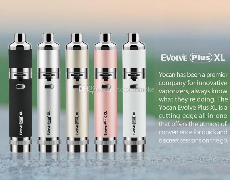DHL Free Authentic Yocan Evolve Plus XL Starter Kit Wax Dry Herb Pen Vaporizer