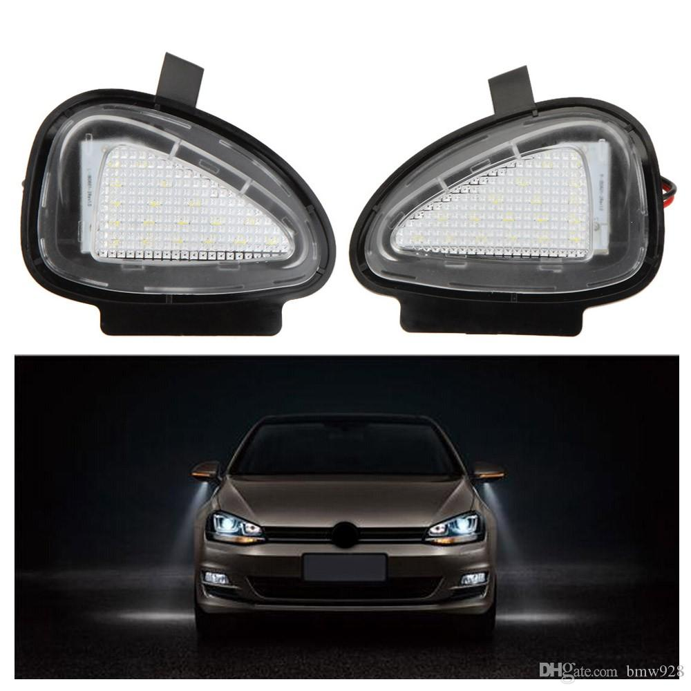 / LED Sotto le lampade a specchio laterali VW Golf 6 Cabriolet Passat B7 Touran Spedizione gratuita