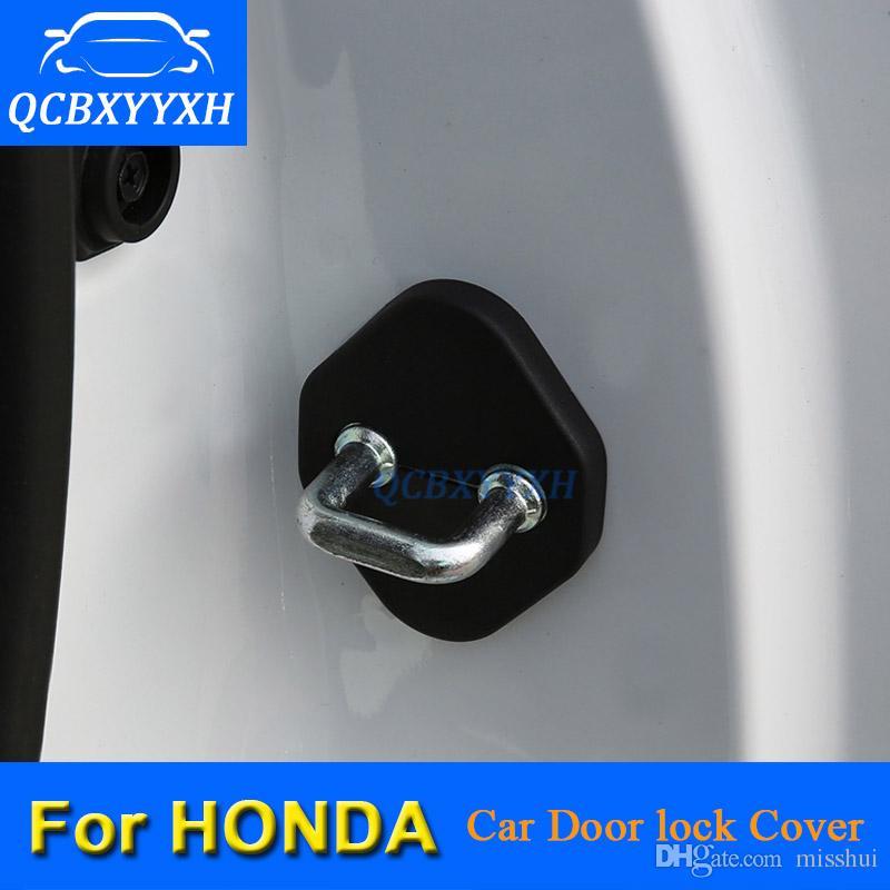 혼다 CRV VEZEL HRV 어코드 CITY FIT CIVIC JADE JAZZ 자동차 도어 잠금 장식 커버에 대 한 자동차 도어 잠금 보호 커버