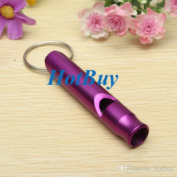 Aluminum Alloy Whistle Keyring Keychain Mini For Outdoor Emergency Survival Safety Sport Camping Hunting #3900