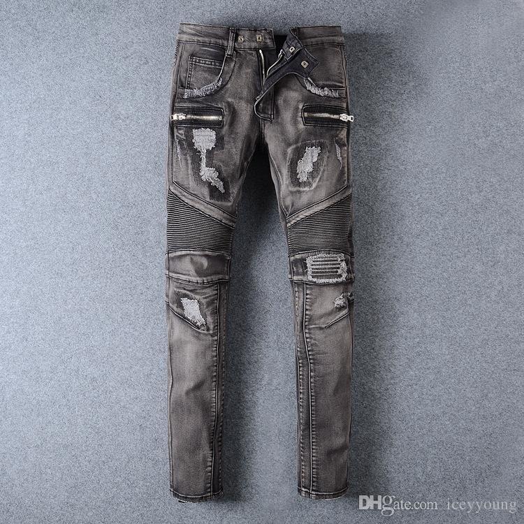 aaa4c6c88448 Wholesale-european Style Represent Same Jeans Men Blue Famous Brand ...
