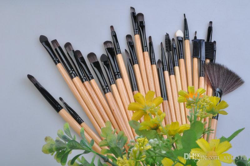 32 stücke holz farbe malen make-up pinsel erröten pinsel make-up kit tragbare modelle von hochwertigen make-up pinsel make-up pinsel set