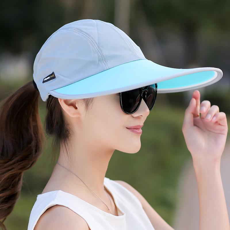 6087d9656 Wholesale- SORRYNAM Summer Hat Women UV Protection Wide Brim Baseball Cap  Mesh Ladies Hat Tennis Fishing Beach Sun Hats Men Casquette Homme