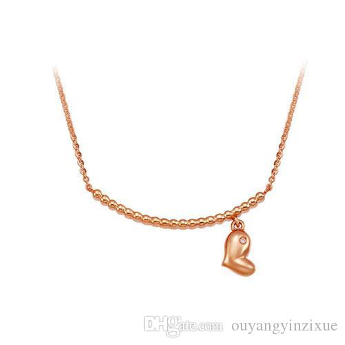 Wholesale Charm Necklace 925 Sterling Silver Modern Classical Heart Pendant  Necklace Jewelry Accessory 17.71inch Choker Necklace Chain Personalized  Pendant ... 56a32d87da013