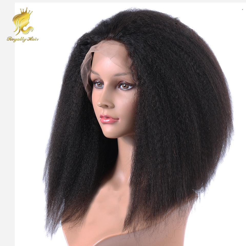 150% Density Cheap glueless full lace human hair wigs kinky straight brazilian human front lace wigs with baby hair for black woman