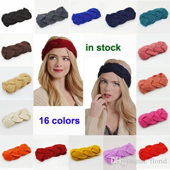 7792aa2c3c0 Fashion Women Crochet Twist Knitted Head Wrap Headband Winter Ear ...