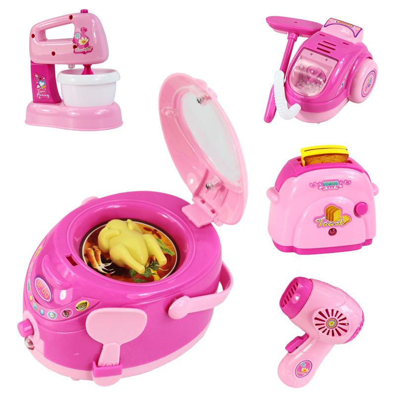 2018 Wholesale Mini Household Appliances Pretend Play Kitchen Children Toys  Toaster Blender Vacuum Cleaner Cooker Toys For Kid Girls Toys Bm021 From ...